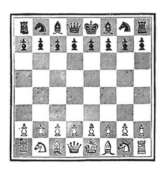 A game of chess vintage vector