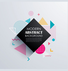 Abstract geometric pattern design and background vector