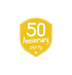 Anniversary badges signs and emblems collection vector