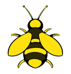 bee icon icon cartoon vector image