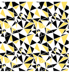 black and yellow triangles abstract vector image vector image