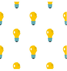 broken yellow lightbulb pattern flat vector image vector image