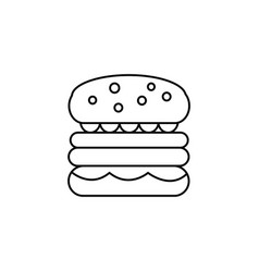 burger sign line icon sign vector image