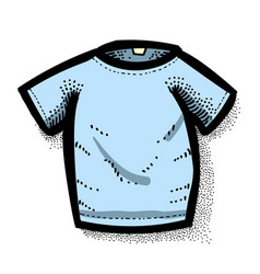 cartoon image of shirt icon t-shirt symbol vector image vector image