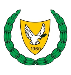 coat of arms of Cyprus vector image