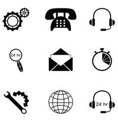 Customer service icon set vector