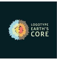 Earths crust the core section abstract geodesic vector