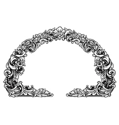 Floral label frame 19 vector
