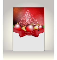 Greeting template vector image