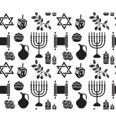 Hanukkah symbol seamless pattern hanukkah vector