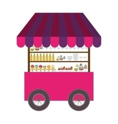 ice cream cart icon vector image