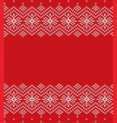 knit christmas geometric ornament design xmas vector image vector image