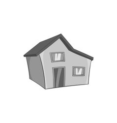 Large residential house with a roof icon vector image vector image