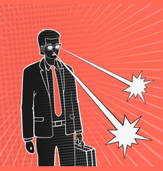 man in a business suit and telekinesis vector image vector image