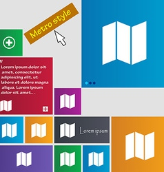 map icon sign Metro style buttons Modern interface vector image