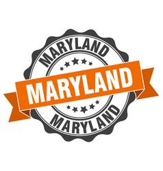 Maryland round ribbon seal vector