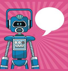robot intelligence artificial bubble speech vector image