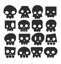 Set of skull heads vector image