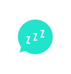 Snoring sign in green speech bubble vector