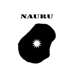 Symbol of isle of nauru and map vector