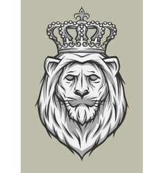 The head of a lion with a crown vector image vector image