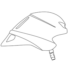 Time trial cycle helmet vector image vector image