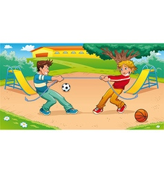 Tug of war with background vector