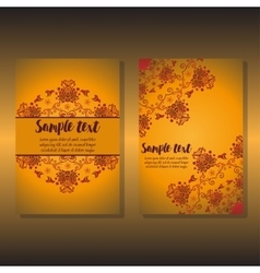 Two design of holiday floral card vector image vector image