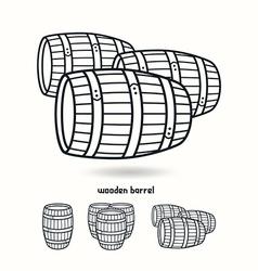 Wooden barrel Design elements for labels vector image