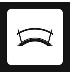 Wooden bridge icon simple style vector image