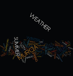 Your murcia weather report text background word vector