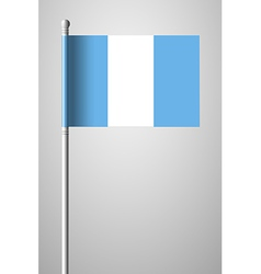 Flag of guatemala national flag on flagpole vector