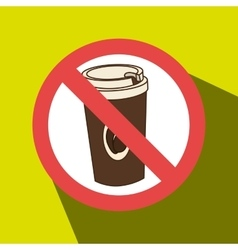 Coffee fast food unhealth prohibited vector