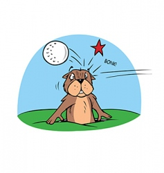 Golf gopher vector