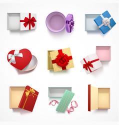 versatile gift boxes set vector image