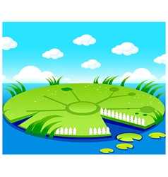 Pond background vector