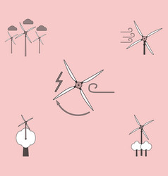 collection of icons and eco energy vector image
