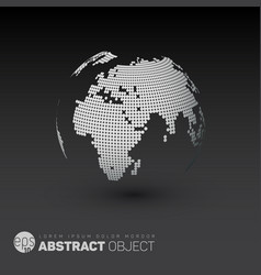 World globe template for your infographics reports vector