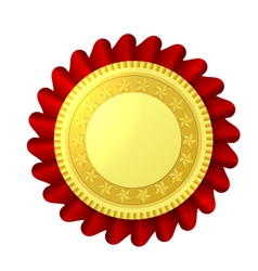 Red and gold rosette vector