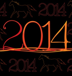 2014 year of horse texture vector