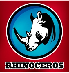 Rhinoceros for sport teams vector