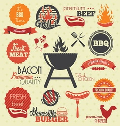 bbq icons resize vector image