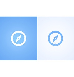 Compass on blue and white background vector