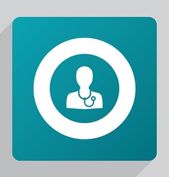 Flat doctor icon vector