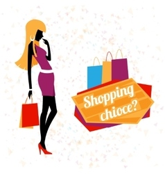 Young woman shopping vector