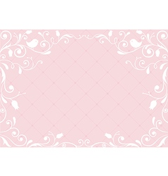 Pink vintage background vector