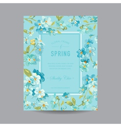 Vintage floral frame - for invitation wedding vector
