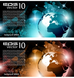 Modern globe background vector