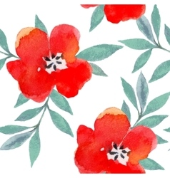 Watercolor flowers pattern vector