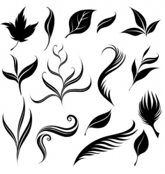 Plants design elements vector